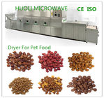 Tunnel Microwave Drying Machine Sterilizing Equipment For Nuts / Pet Food / Meat